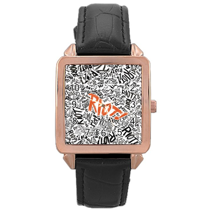 Paramore Is An American Rock Band Rose Gold Leather Watch