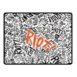 Paramore Is An American Rock Band Double Sided Fleece Blanket (Small)  50 x40 Blanket Front