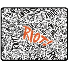 Paramore Is An American Rock Band Double Sided Fleece Blanket (Medium)