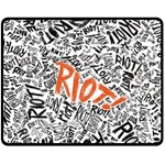 Paramore Is An American Rock Band Double Sided Fleece Blanket (Medium)  60 x50 Blanket Back