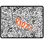 Paramore Is An American Rock Band Double Sided Fleece Blanket (Large)  80 x60 Blanket Back