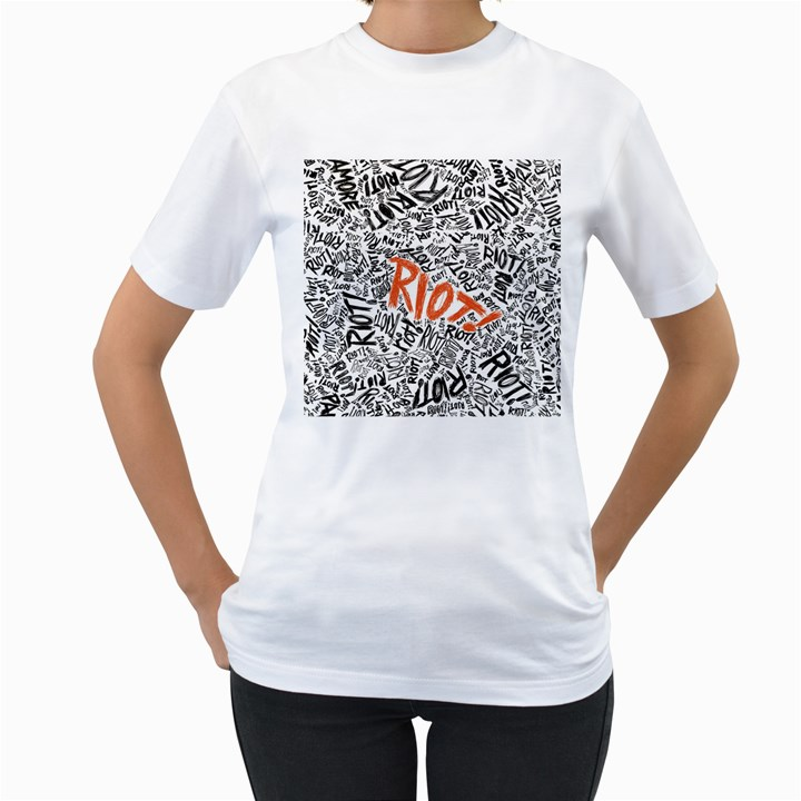 Paramore Is An American Rock Band Women s T-Shirt (White)