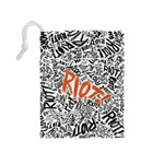 Paramore Is An American Rock Band Drawstring Pouches (Medium)  Back
