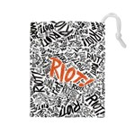 Paramore Is An American Rock Band Drawstring Pouches (Large)  Front