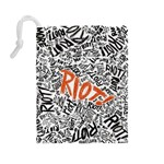 Paramore Is An American Rock Band Drawstring Pouches (Large)  Back