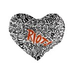 Paramore Is An American Rock Band Standard 16  Premium Flano Heart Shape Cushions Front
