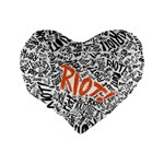 Paramore Is An American Rock Band Standard 16  Premium Flano Heart Shape Cushions Back