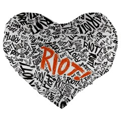 Paramore Is An American Rock Band Large 19  Premium Flano Heart Shape Cushions