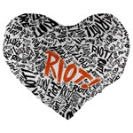 Paramore Is An American Rock Band Large 19  Premium Flano Heart Shape Cushions Front