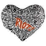 Paramore Is An American Rock Band Large 19  Premium Flano Heart Shape Cushions Back