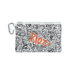 Paramore Is An American Rock Band Canvas Cosmetic Bag (S)
