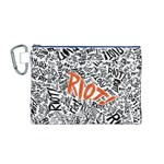 Paramore Is An American Rock Band Canvas Cosmetic Bag (M) Front