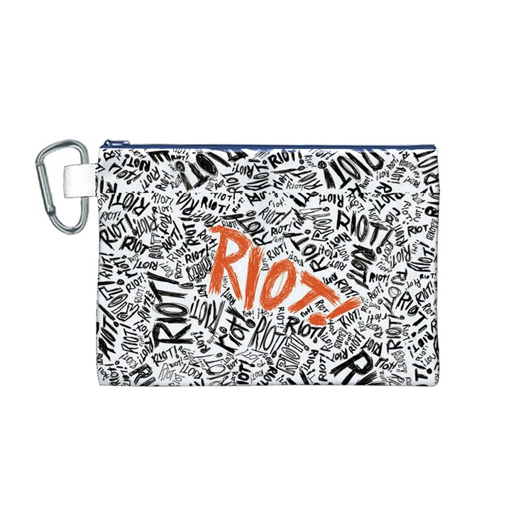 Paramore Is An American Rock Band Canvas Cosmetic Bag (M)