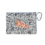 Paramore Is An American Rock Band Canvas Cosmetic Bag (M) Back