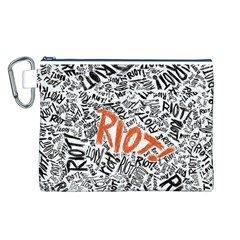 Paramore Is An American Rock Band Canvas Cosmetic Bag (L)