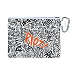 Paramore Is An American Rock Band Canvas Cosmetic Bag (L) Back