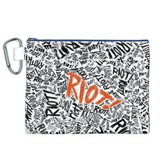 Paramore Is An American Rock Band Canvas Cosmetic Bag (xl)
