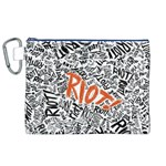 Paramore Is An American Rock Band Canvas Cosmetic Bag (XL) Front
