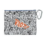 Paramore Is An American Rock Band Canvas Cosmetic Bag (XL) Back