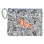 Paramore Is An American Rock Band Canvas Cosmetic Bag (XXL) Front
