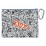 Paramore Is An American Rock Band Canvas Cosmetic Bag (XXL) Back
