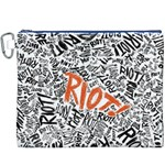 Paramore Is An American Rock Band Canvas Cosmetic Bag (XXXL) Front