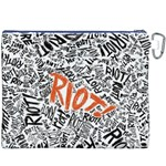 Paramore Is An American Rock Band Canvas Cosmetic Bag (XXXL) Back