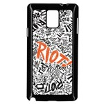 Paramore Is An American Rock Band Samsung Galaxy Note 4 Case (Black) Front