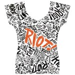 Paramore Is An American Rock Band Women s V-Neck Cap Sleeve Top Front