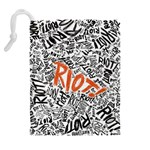 Paramore Is An American Rock Band Drawstring Pouches (Extra Large) Back