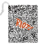 Paramore Is An American Rock Band Drawstring Pouches (XXL) Back