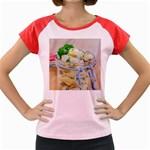 1 Kartoffelsalat Einmachglas 2 Women s Cap Sleeve T-Shirt Front