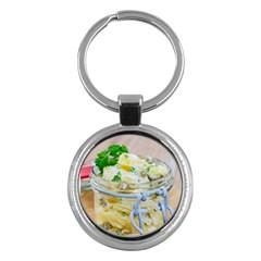 1 Kartoffelsalat Einmachglas 2 Key Chains (Round)