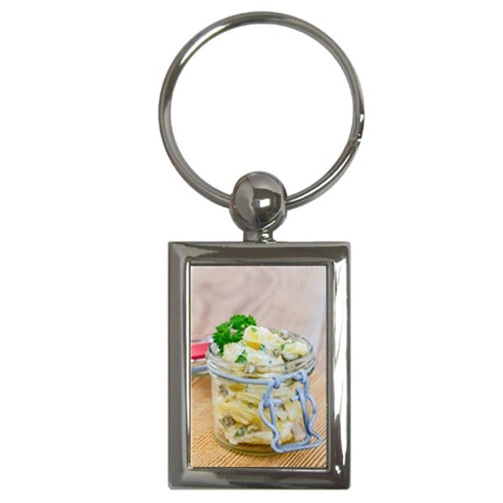 1 Kartoffelsalat Einmachglas 2 Key Chains (Rectangle)