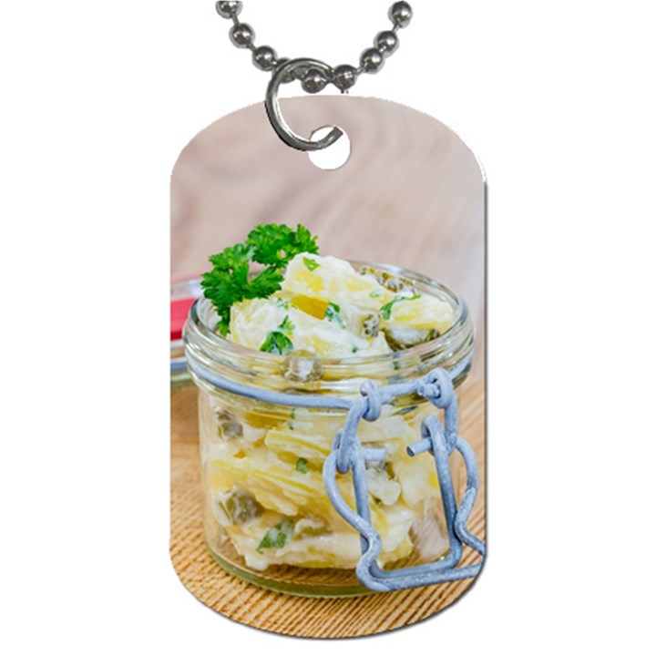 1 Kartoffelsalat Einmachglas 2 Dog Tag (One Side)