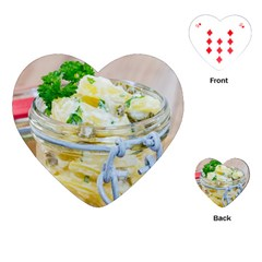 1 Kartoffelsalat Einmachglas 2 Playing Cards (Heart)
