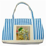 1 Kartoffelsalat Einmachglas 2 Striped Blue Tote Bag Front