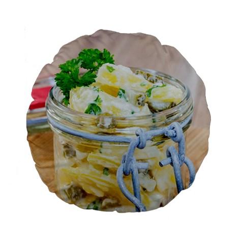 1 Kartoffelsalat Einmachglas 2 Standard 15  Premium Flano Round Cushions