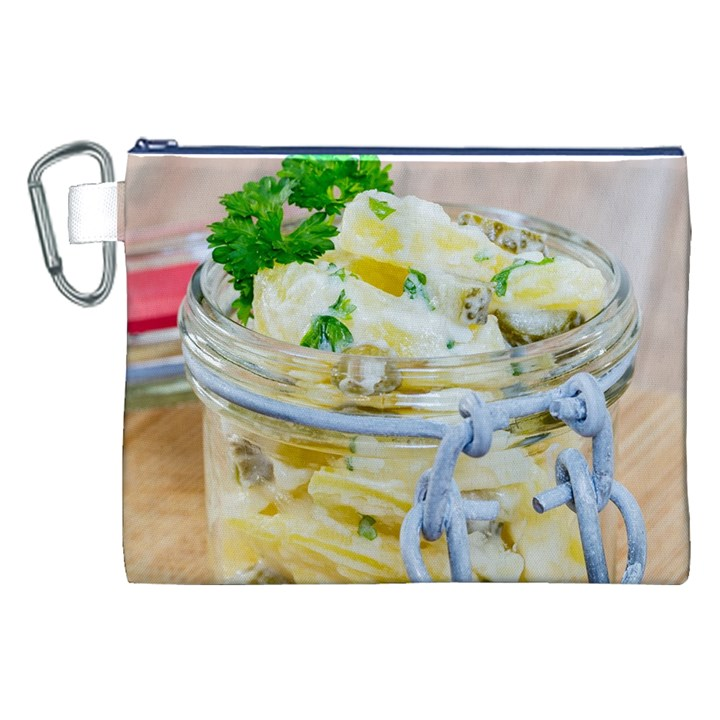 1 Kartoffelsalat Einmachglas 2 Canvas Cosmetic Bag (XXL)