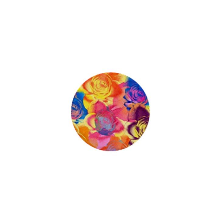 Pop Art Roses 1  Mini Buttons