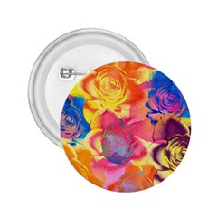 Pop Art Roses 2.25  Buttons