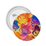 Pop Art Roses 2.25  Buttons Front