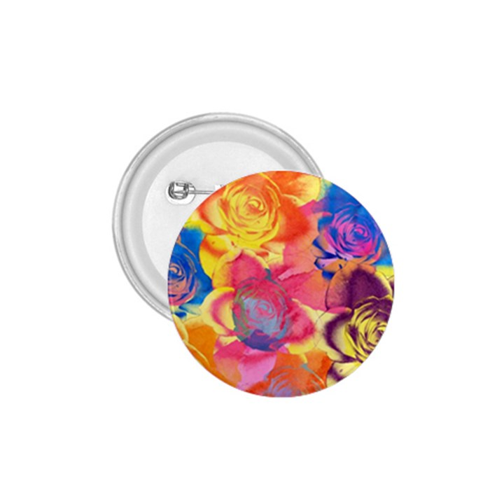 Pop Art Roses 1.75  Buttons