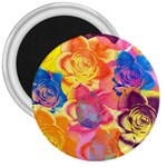 Pop Art Roses 3  Magnets Front