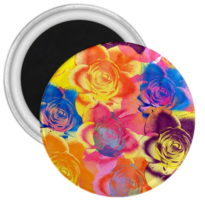 Pop Art Roses 3  Magnets