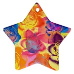 Pop Art Roses Ornament (Star)  Front
