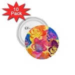 Pop Art Roses 1.75  Buttons (10 pack) Front