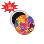 Pop Art Roses 1.75  Magnets (10 pack)  Front