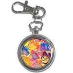 Pop Art Roses Key Chain Watches Front