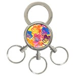 Pop Art Roses 3-Ring Key Chains Front
